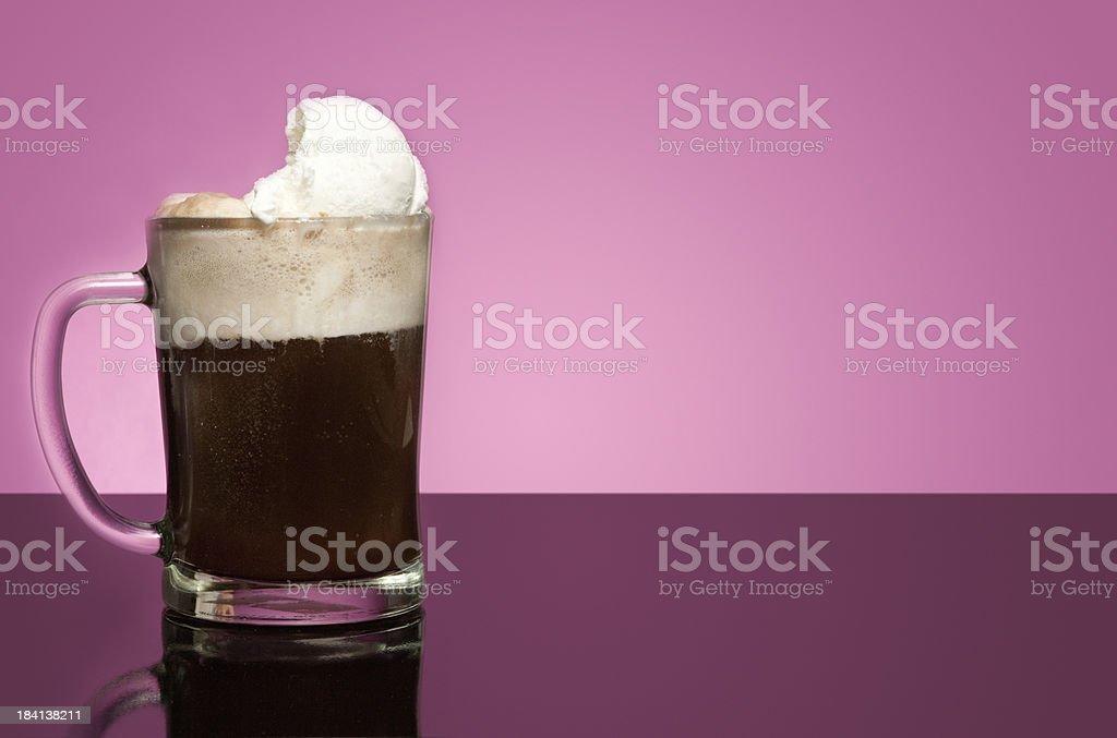 Copy Space Root beer float stock photo