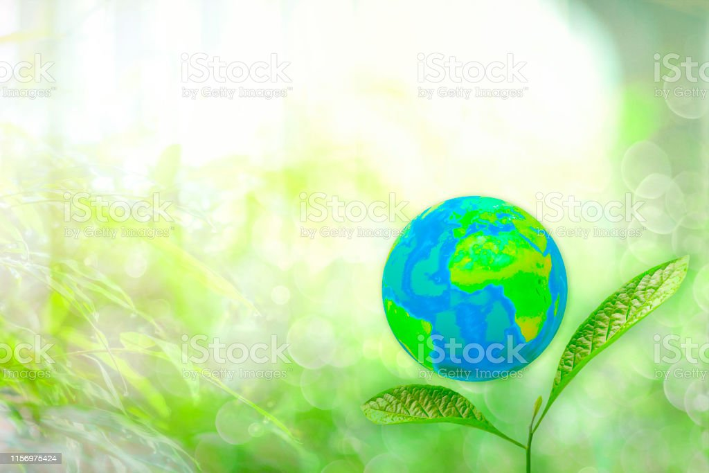 Copy space save world and save energy concept, Green planet on the...