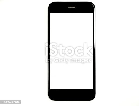 black device on white background