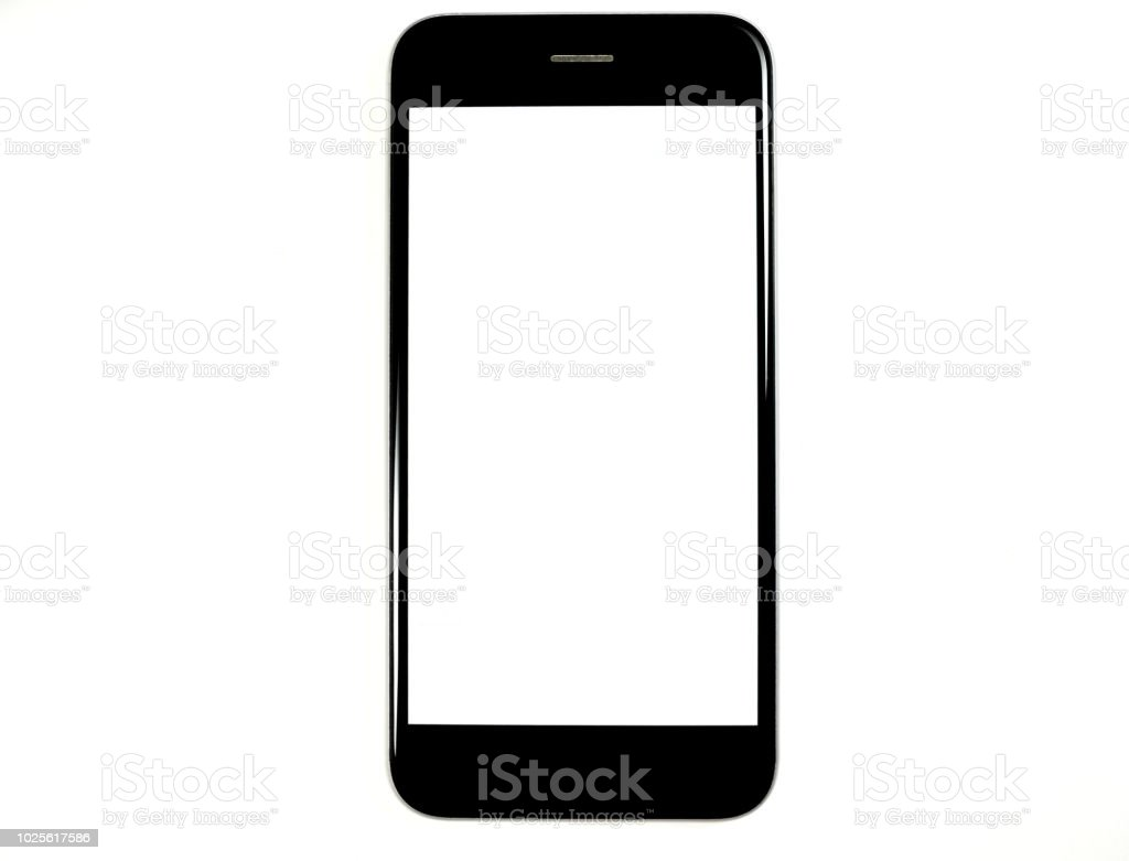 Copy space smartphone stock photo