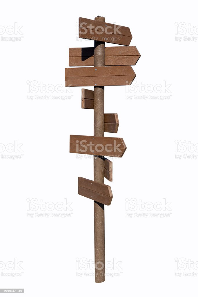 Copy Space Wood Signboard with Work Path stock photo