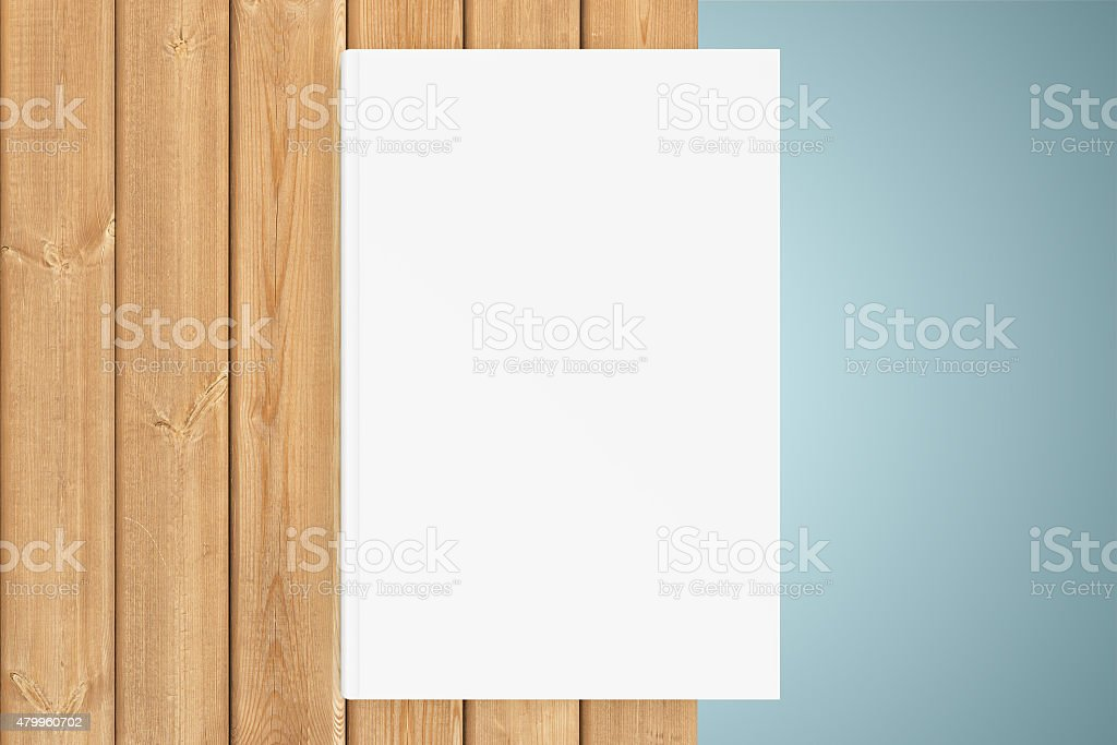 Copy-book on the edge of table stock photo