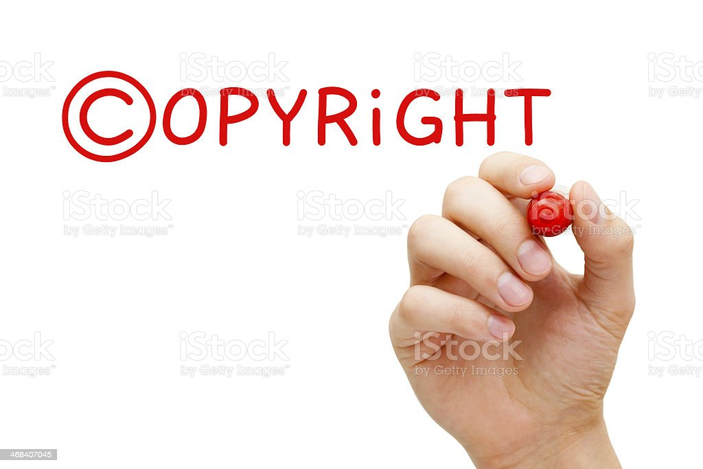 Copyright Concept Red Marker stock photo