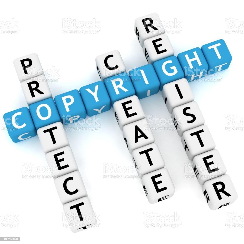 Copyright Crossword stock photo