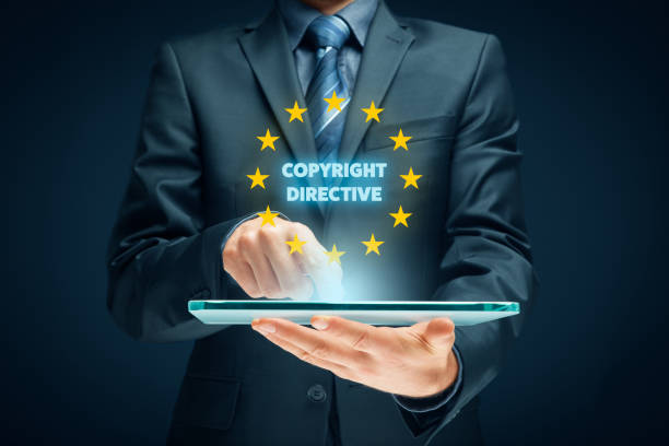 Copyright directive stock photo
