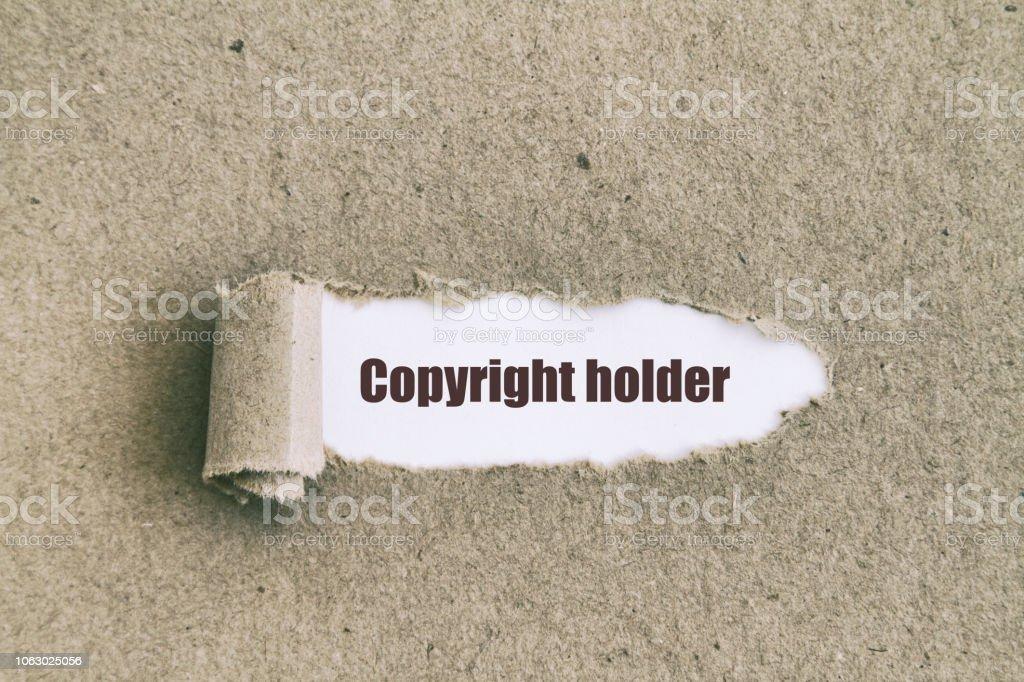 Telif hakkı sahibi stok fotoğrafı