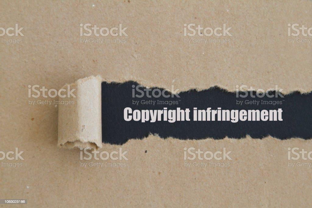 Telif hakkı ihlali stok fotoğrafı