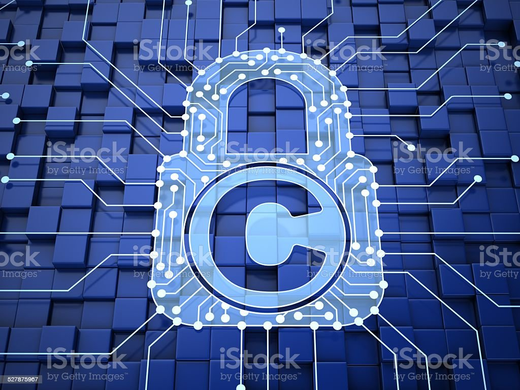Copyright lock stock photo