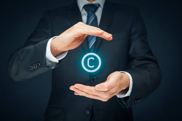 Copyright, patents and intellectual property stock photo
