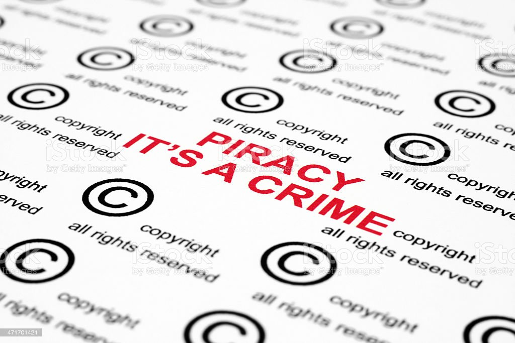 Copyright piracy royalty-free stock photo