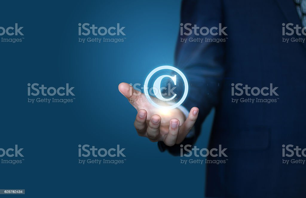 copyright symbol from the author stock photo
