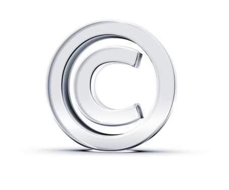 istock A copyright symbol in 3D on a white background 155162028
