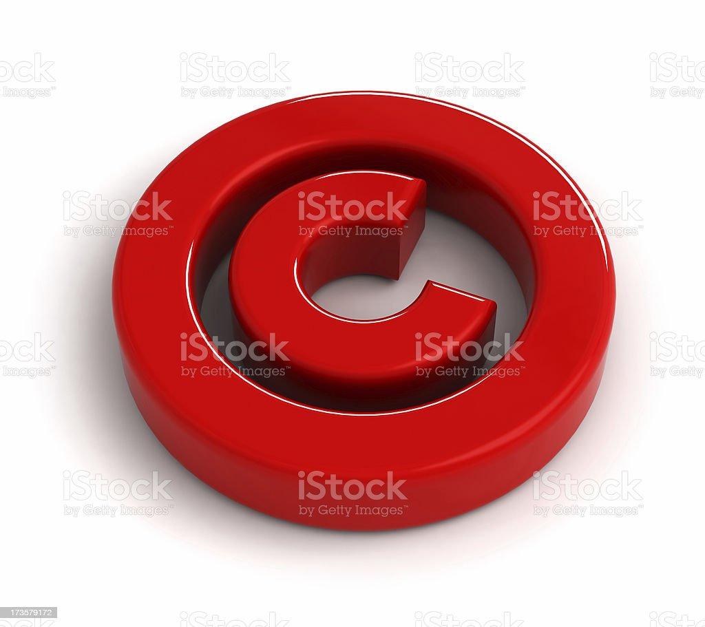 Copyright symbol stock photo
