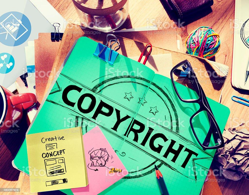 Copyright Trademark Brand Branding Marketing Concept stock photo