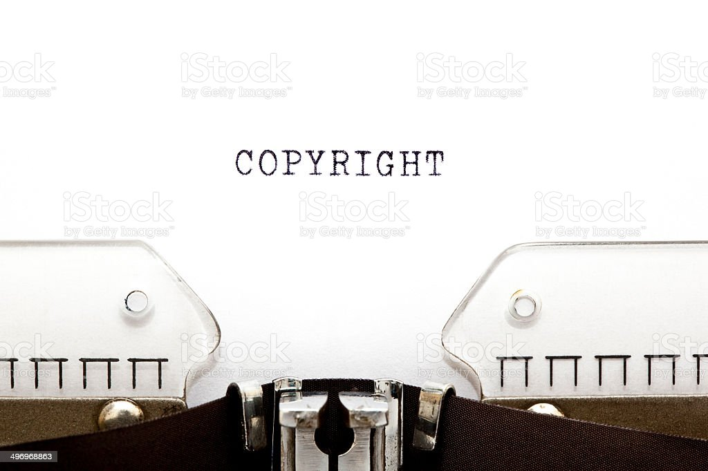 Copyright Typewriter stock photo