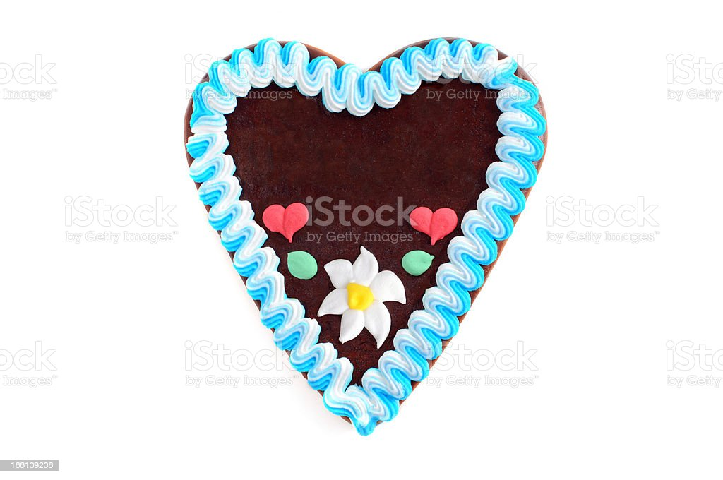 copyspace gingerbread cookie heart royalty-free stock photo
