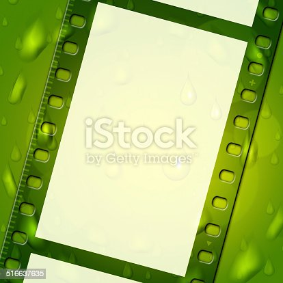 Filmstrip Green Meaning Text Space And Photography