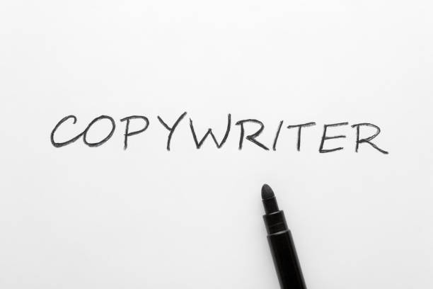 Copywriter written on white background The word copywriter written on white paper sheet and black marker copywriter stock pictures, royalty-free photos & images