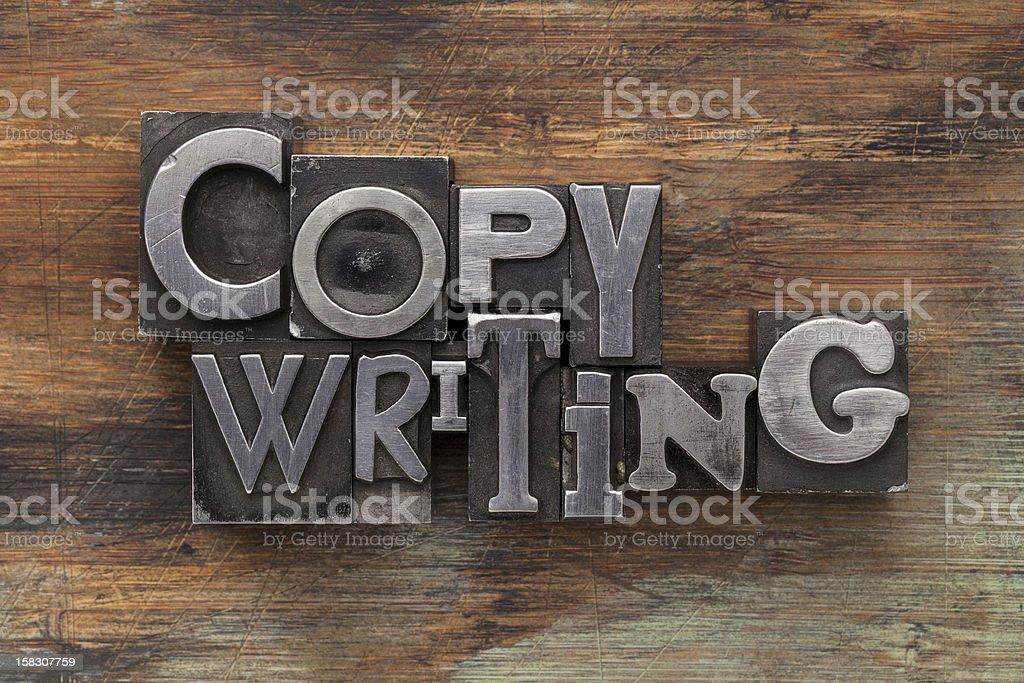 copywriting in metal type blocks royalty-free stock photo