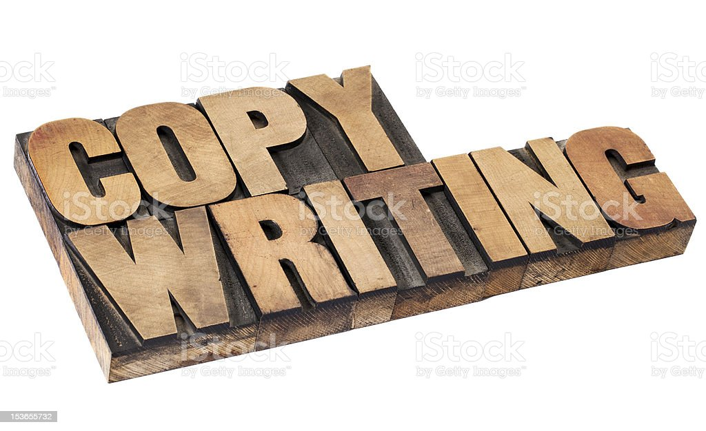 copywriting word in wood type royalty-free stock photo
