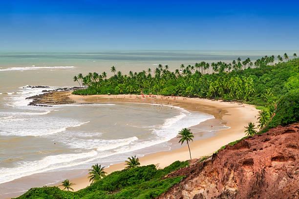 Coqueirinho Beach in Joao Pessoa, northeast of Brazil stock photo