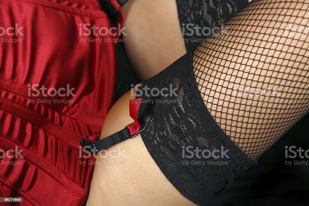 in fishnets coquette foto stock royalty-free