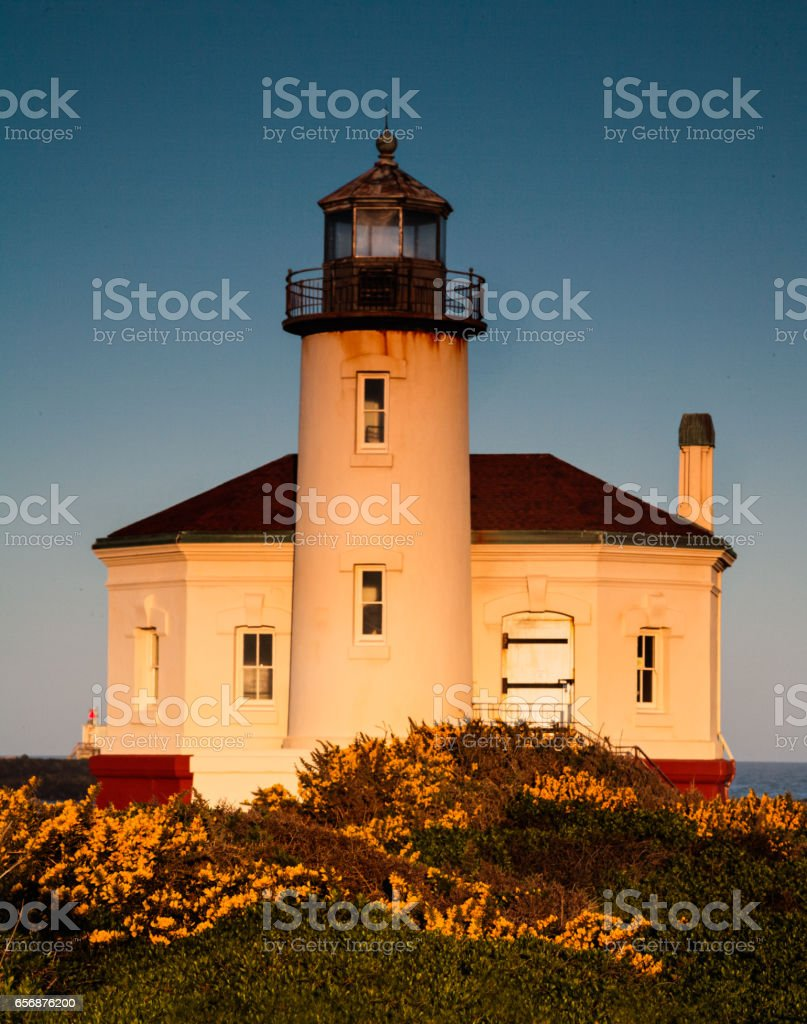 Coquille River Lighthouse stock photo