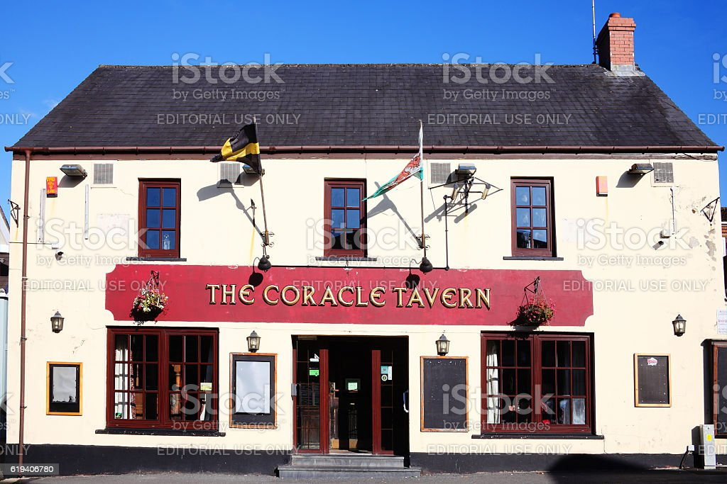 Coracle Tavern stock photo