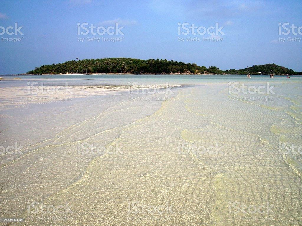 Coral bay at Chaweng beach, Koh Samui - Thailand stock photo