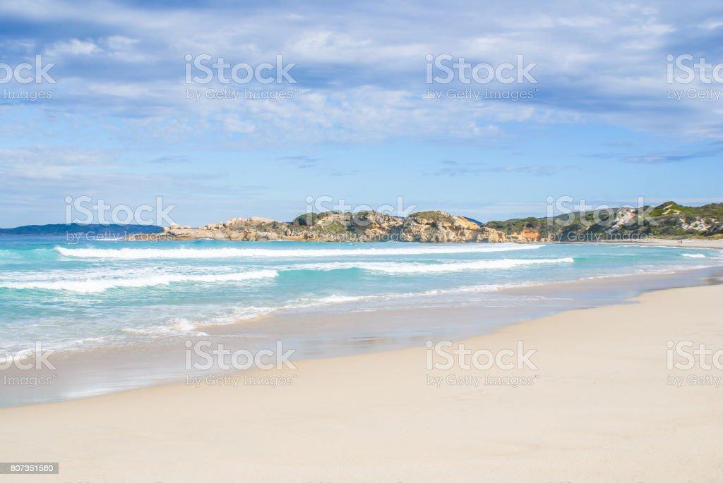 coral bay beach stock photo