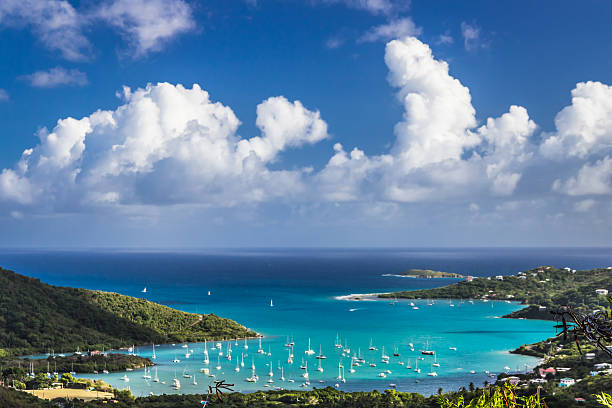 Coral Bay, St John, US Virgin Islands stock photo