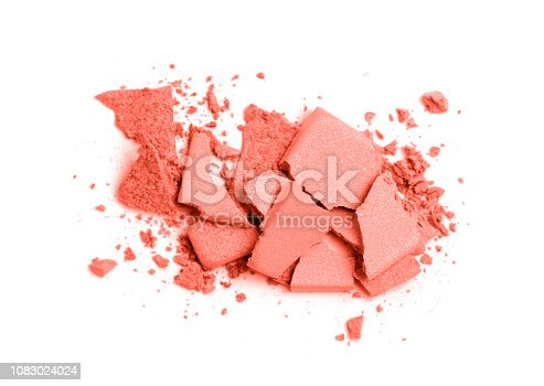 istock Coral colored Eye shadow set isolated on white 1083024024
