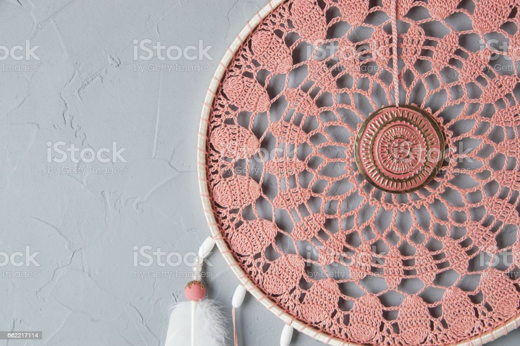 Coral dream catcher royalty-free stock photo