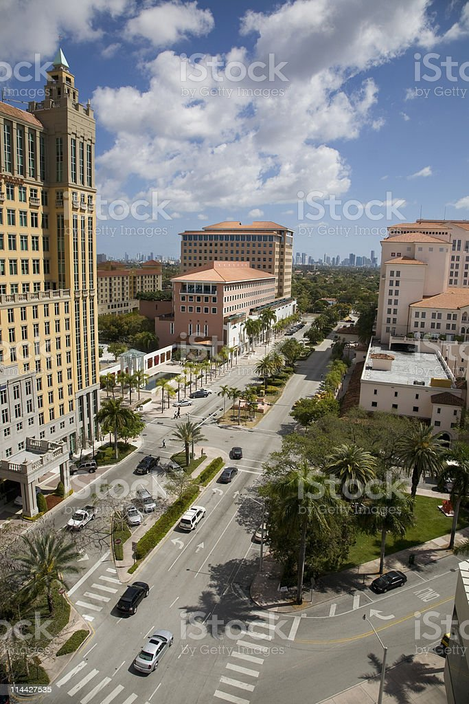 Coral Gables in Miami stock photo