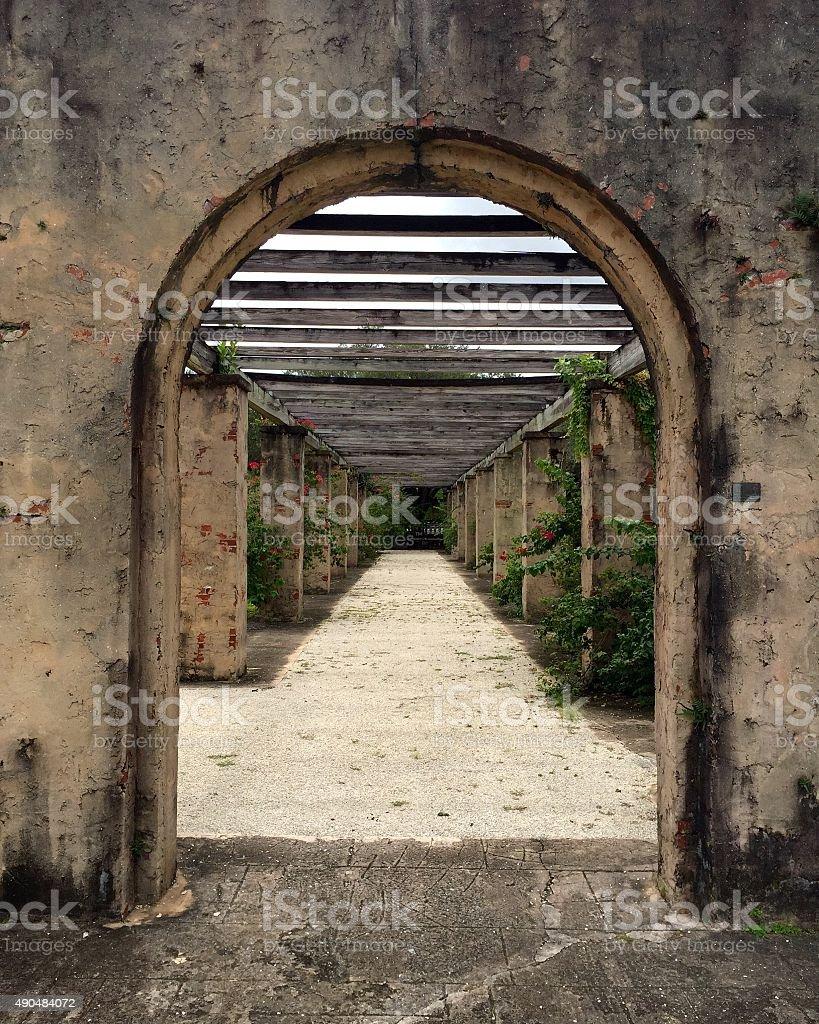 Coral Gables - Prado Entrance stock photo