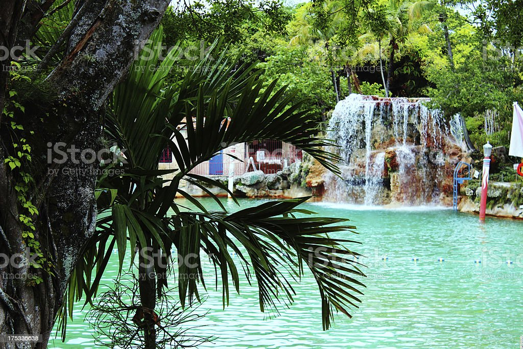 Coral Gables Venetian Pool Miami stock photo