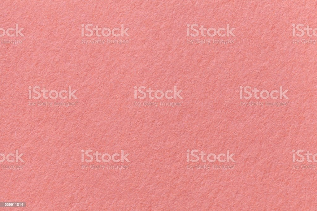 Coral old paper background. Thick cardboard. stock photo
