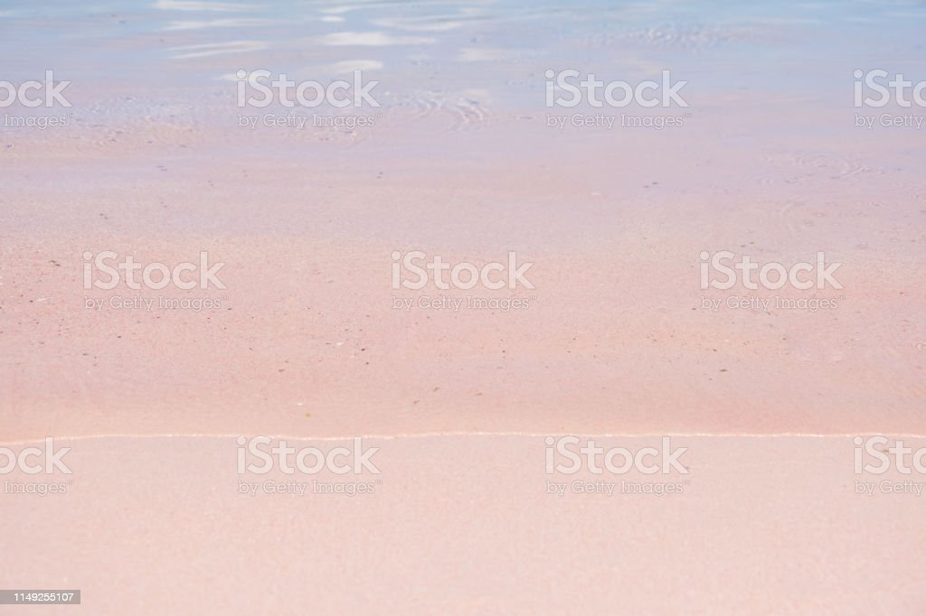 Coral on Pink Sand at Pink Beach in Komodo National Park, Indonesia....