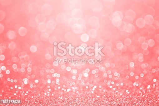 istock Coral Pink and Peach Glitter Sparkle Background 667173928