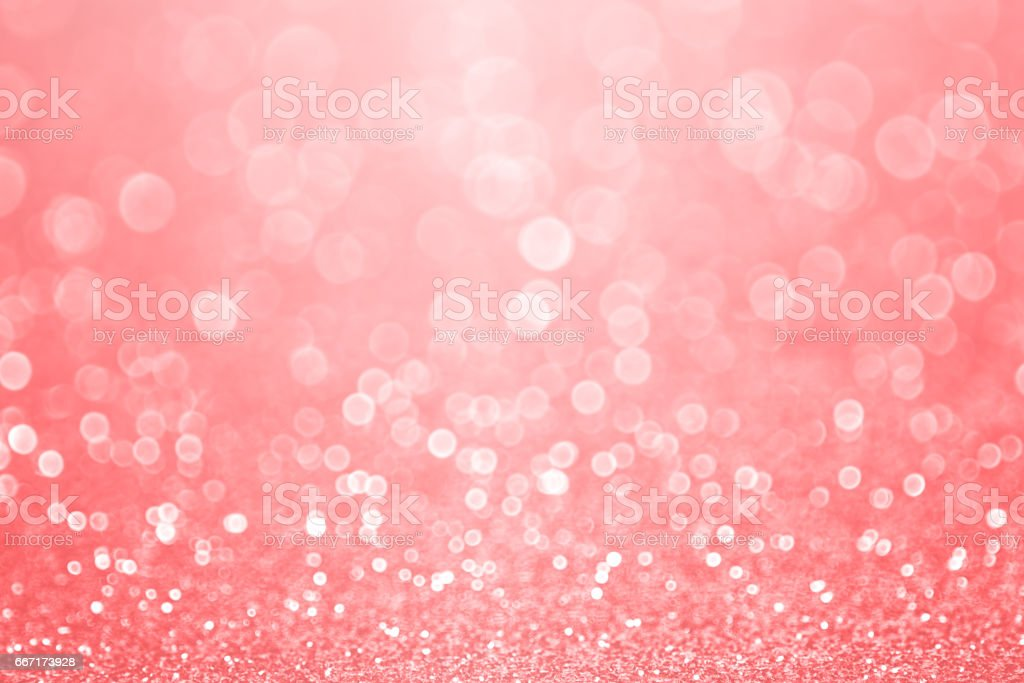 Coral Pink and Peach Glitter Sparkle Background stock photo