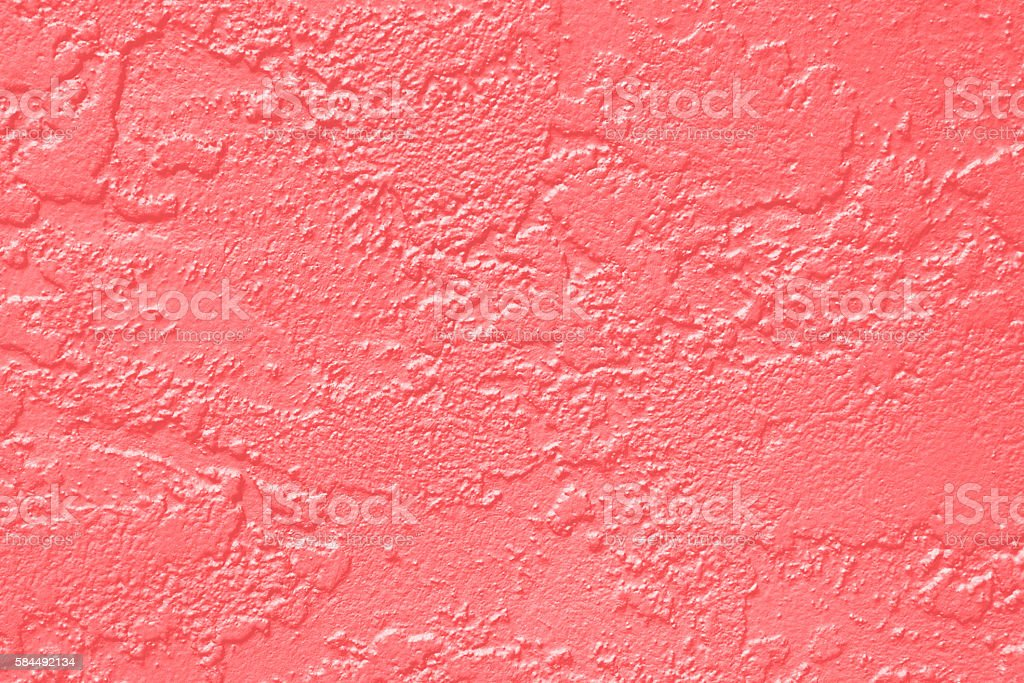 Coral Pink Paint Wall Texture stock photo