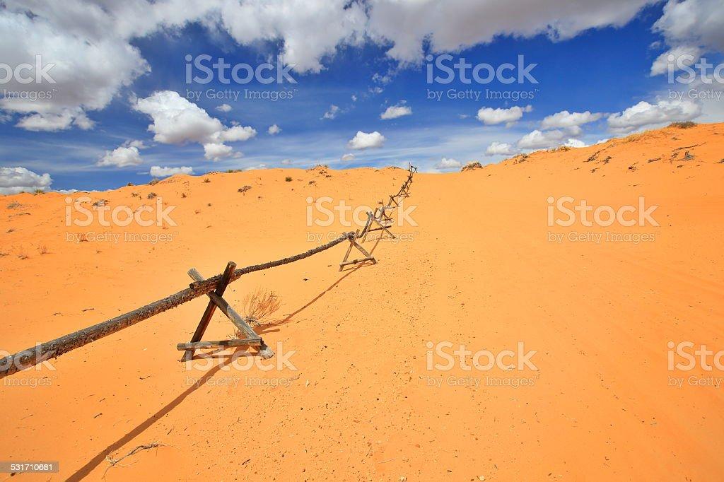 Coral Pink Sand Dunes in Utah stock photo