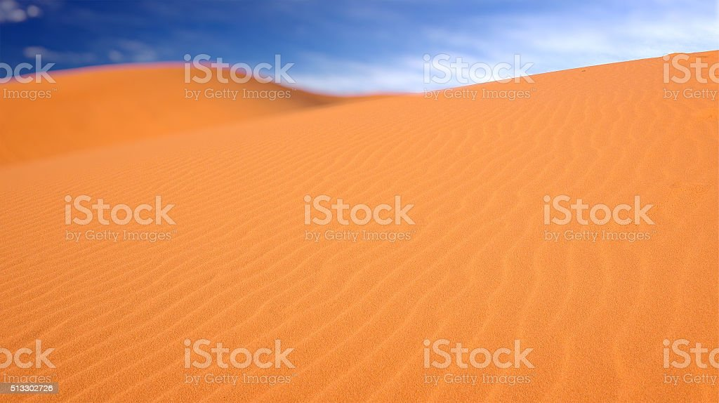 Coral Pink Sand Dunes State Park in Utah stock photo