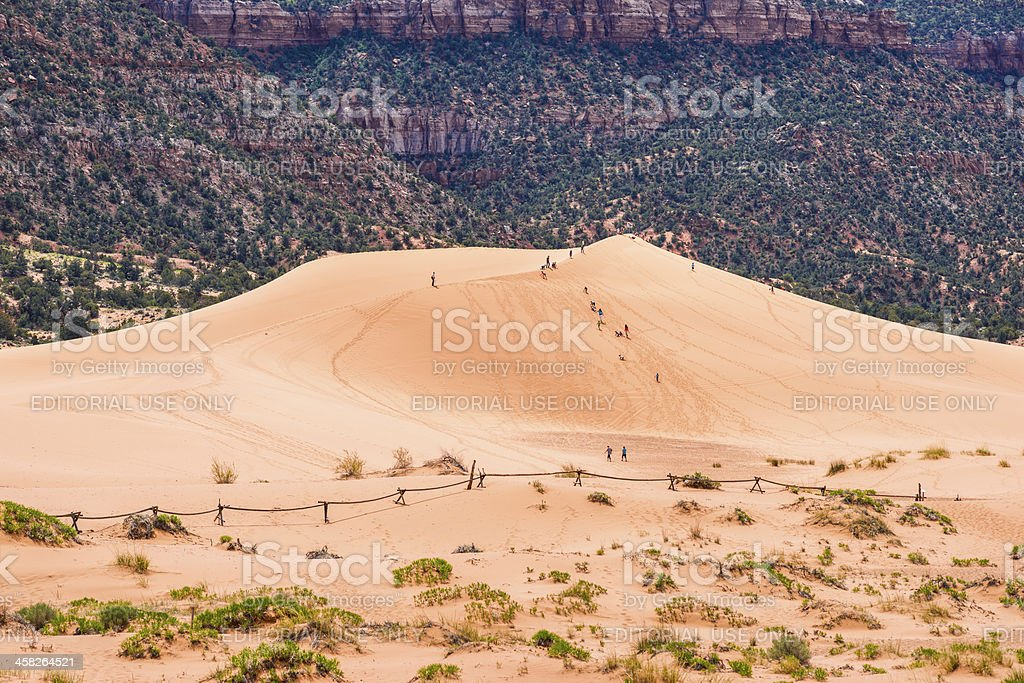 Coral Pink Sand Dunes State Park in Utah, USA stock photo