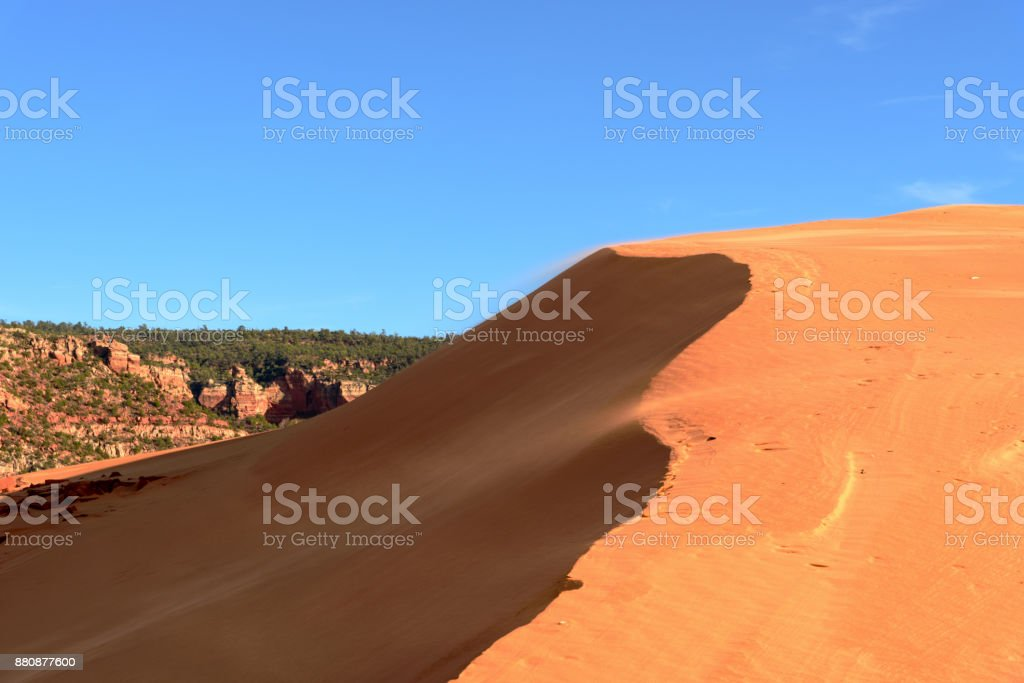 Coral Pink Sand Dunes State Park, state park of Utah, United States stock photo