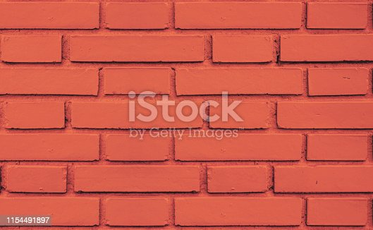 Coral red brick wall seamless texture