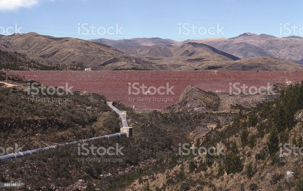 Corani Dam in Chapare Bolivia stock photo