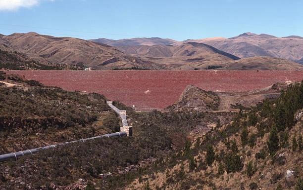 Corani Dam in Chapare Bolivia stock photo