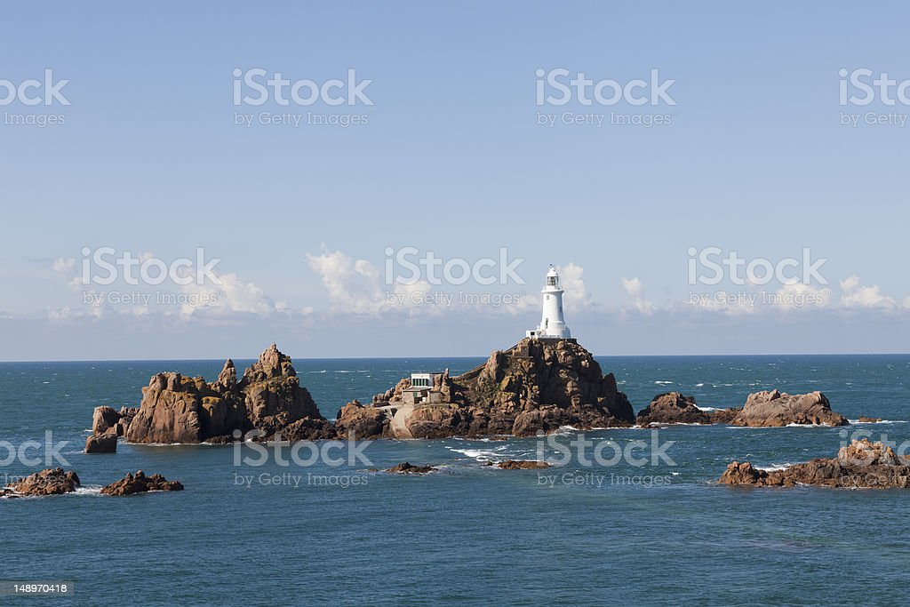 Corbière Lighthouse, Jersey, Channel Islands stock photo