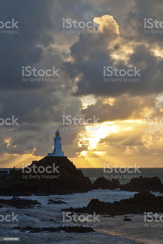 Corbiere Lighthouse - Jersey Channe Islands stock photo